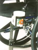 Cup Holder for manual wheelchairs
